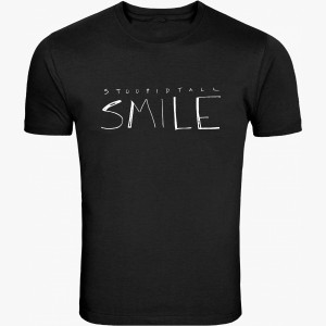 T-shirts Stoopidtall Smile Black